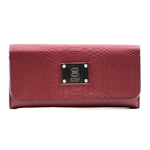 GUESS - Portamonete ANGELA Larage Flap Organizer claret, SWVG5068530