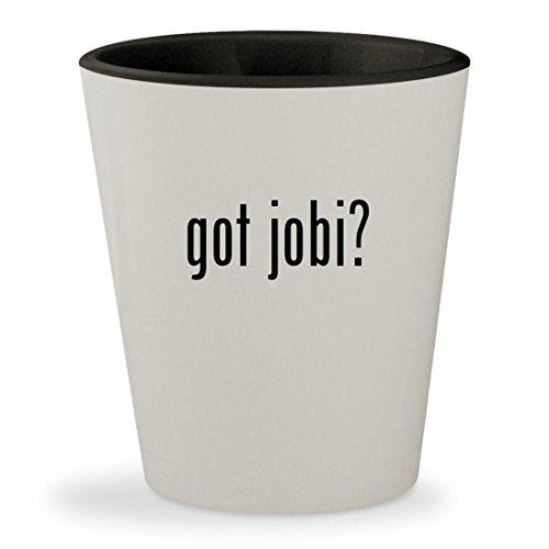 got jobi? - White Outer & Black Inner Ceramic 1.5oz Shot Glass