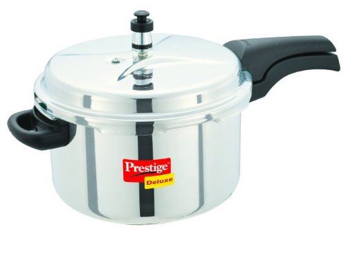 Prestige Deluxe Stainless Steel Pressure Cooker, 6.5 Liters by A&J Distributors, Inc. Pressure Cookers at amazon