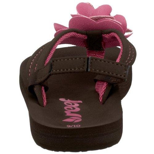 Reef Bloom - Zapatos de punta redonda de niñas sin cordones marrón - marrón/rosa