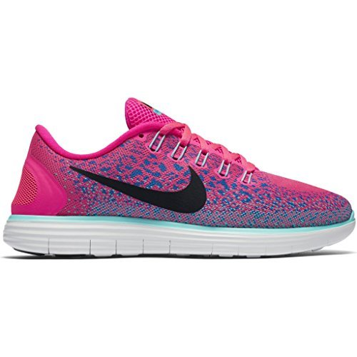 Nike Women's Free RN Distance Running Shoe (Sz. 9) Hyper Pink, Black, Blue Glow