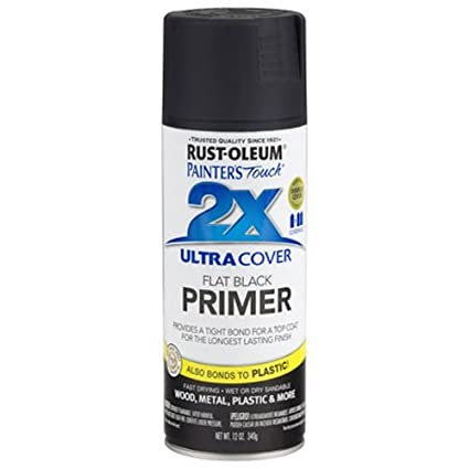 Rust-Oleum 249846 Painter's Touch Ultra Cover 2X Primer Spray Paint - Black