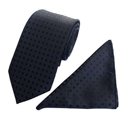 Black Woven Neckties Gift for Men Work Tie for Him Birthday Gift for Guys Dating