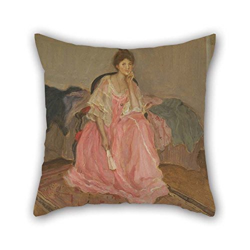 Pillow Covers Of Oil Painting Frederick Carl Frieseke - Lady In Pink 16 X 16 Inches/40 By 40 Cm Best Fit For Home Theater...