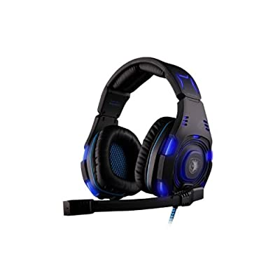 Andget® SADES SA-907 7.1 Surround Sound Headset USB Headset WCG Headphone Gaming LED Headset with Microphone Blue / Black