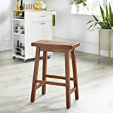 Target Marketing Systems The Arizona Collection Contemporary Wooden Dining Saddle Stool, 30