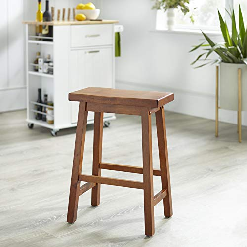 Target Marketing Systems The Arizona Collection Contemporary Wooden Dining Saddle Stool, 24