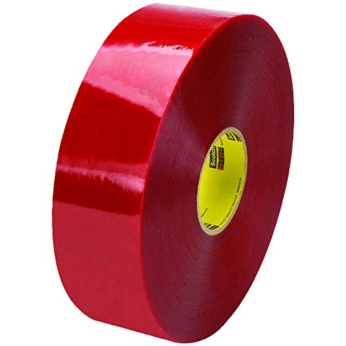 Ship Now Supply SNT90333779 3M 3779 Pre-Printed Carton Sealing Tape, 1.9 Mil, 3'' x 1000 yd., Clear/Red (Pack of 4) by Ship Now Supply