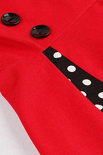 Babyonline 1950s Cocktail Evening Vintage Red Gown Retro Dresses Women Rockabilly rxnS4r