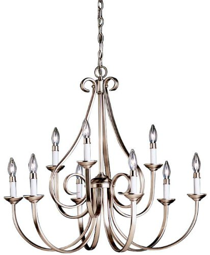 Eight Light Candle Chandelier - 2