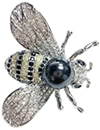 6f0e851568d Bling Bling Pendant Brooch Queen Bee Rhinestone Brooch Fashion Necklace  Golden or Silvery