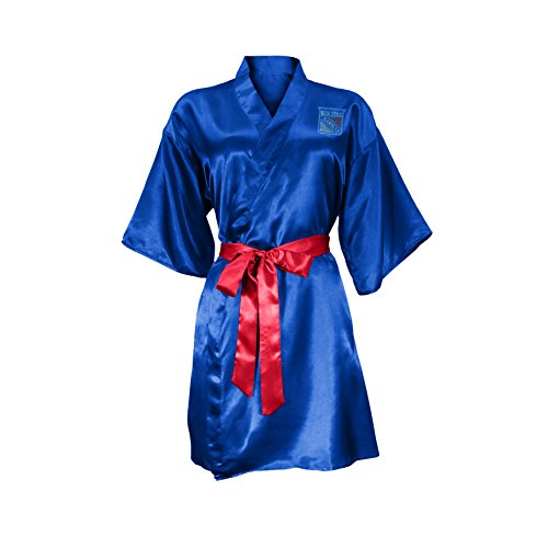 NHL New York Rangers Satin Kimono, Small/Medium (New York Rangers Robe)