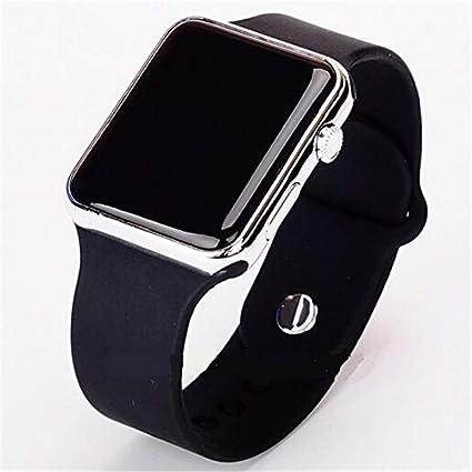 Outtybrave - Reloj de pulsera con esfera de espejo cuadrada y marco de metal y correa