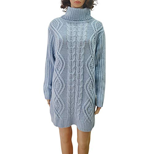 wholesale dealer 6bdc4 ee679 Women Cowl Neck Knit Stretchable Elasticity Long Sleeve Slim Fit Split  Sweater Dress Plus Size