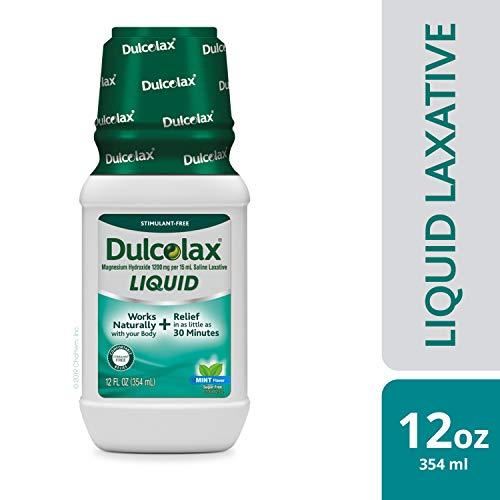 Dulcolax Liquid Laxative, Mint, 12 Ounce