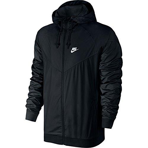 Nike Mens Windrunner Full Zip Hooded Running Jacket Black Large -