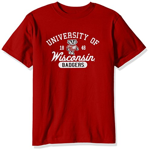 (NCAA Wisconsin Badgers Youth Short Sleeve Tee, Size 8-10 /Small, Red)