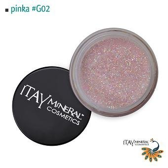 Itay Beauty Mineral cosmetic face and body glitter Color Pinka G02 by Itay Beauty
