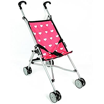 Hearts My First Doll Stroller for Kids - Super Cute Doll Stroller for Girls - Doll Stroller Folds for Storage - Great Gift for Toddlers : Baby