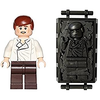 Amazoncom LEGO Star Wars Minifigure Han Solo With Carbonite - 25 2 lego star wars minifigures han solo han in carbonite blaster