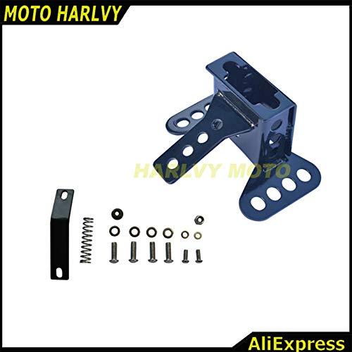 Alfred-Stores - Adjustable Driver Rider Backrest Pad Back Rest Bracket Mounting Kit for Harley Touring FLH 88-08 89 90 01 02 03 04 05 06 07