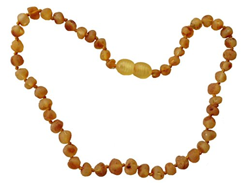 Raw Baltic Amber Adult Necklace- Raw Lemon Color - 18 inches long - Anti-inflammatory - Natural Pain Relief for Carpel Tunnel, Arthritis, Sinus Pressure, Headaches and Migraines