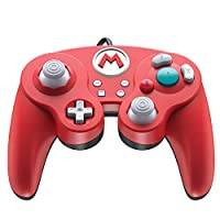 Nintendo Switch Super Mario Bros Mario GameCube Style Wired Fight Pad Pro Controller by PDP, 500-100-NA-D1