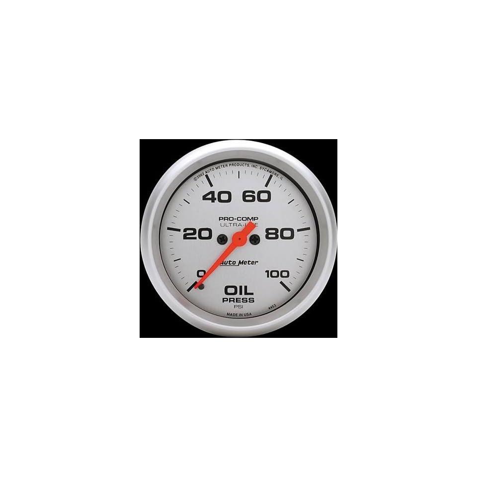 Auto Meter 4453 ULTRA LITE 0 100 PSI Full Sweep Electric Oil Pressure Gauge