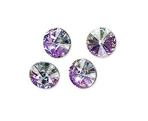 (Jewelry Making Beads 6 Crystal Vitrail Light Swarovski Foiled 1122 Rivoli Stone 12mm)
