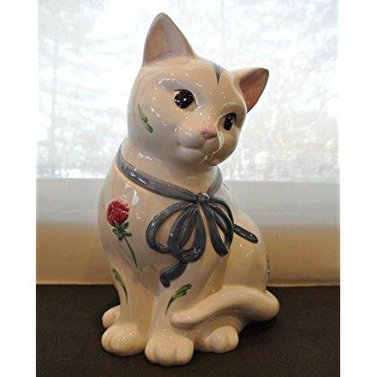 Lenox Poppies Barnyard Kitten Cookie Jar