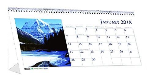 House of Doolittle Monthly Desk Calendar (HOD3649-18) (Calendar Scenic Featuring Photos)