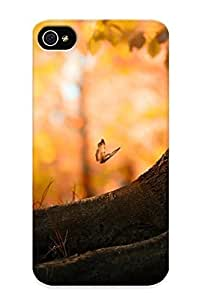 Guidepostee Brand New Defender Case For Iphone 4/4s (butterfly Wood) / Christmas's Gift hjbrhga1544