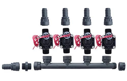 Hunter PGV100-MM 4 Zone Dura Manifold Valve Kit Without Flow Control - Barb PGV100MM (4 ()
