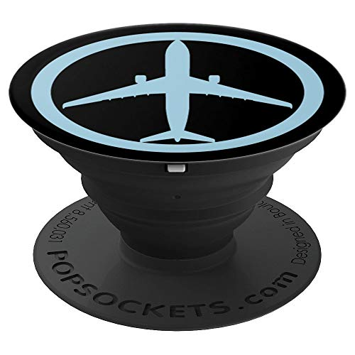 (Airbus A330 (Blue) Jet Airplane Pilot Aviation - PopSockets Grip and Stand for Phones and Tablets )