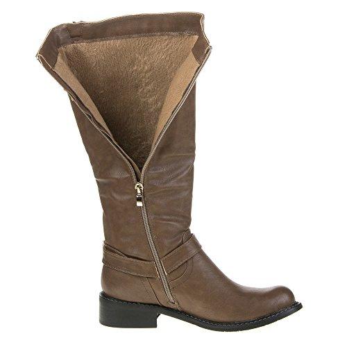Ital-Design - Botas de Material Sintético para mujer 40 Marrón - marrón