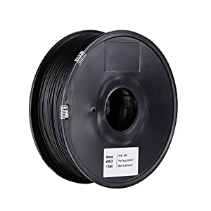 SainSmart 1.75mm ePA-CF Carbon Fiber Filled Nylon Filament 1KG (2.2lb) Spool for 3D Printers,1KG, Black from SainSmart