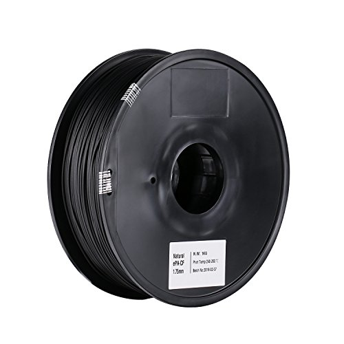 SainSmart 1.75mm Black Epa-CF Carbon Fiber Filled Nylon Filament 1KG (2.2lbs) Spool for 3D Printer