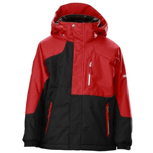 Descente Cruiser Junior Ski Jacket - Insulated (For Boys) - BLACK/RUBY RED