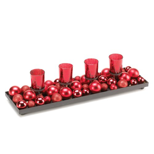 Candle Holiday Centerpiece - Merry Candle Display