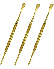 Lmbros Wax Carving Tool Wax Tools Stainless Steel Tools 3pcs (Gold)