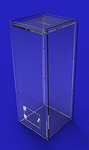 FixtureDisplays Clear Acrylic Donation Box Poll Collection Box Ballot Box 3488 by FixtureDisplays