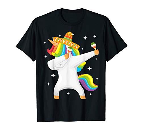 Sombrero Unicorn Dabbing Cinco De Mayo T-Shirt ()