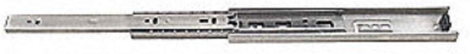 Laurey 10718 Ball Bearing Full Extention Side Mount Soft Closing Slide-18 Inch-Pair Drawer Slide Zinc Plated