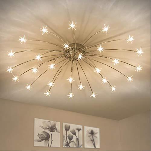 GYP@ Nordic Creative Fashion Wrought Iron Gypsophila Ceiling Light, Post-Modern Minimalist Restaurant Bedroom Living Room Study Shop Studio Lamps Ceiling Lighting Lamps Lanterns,28