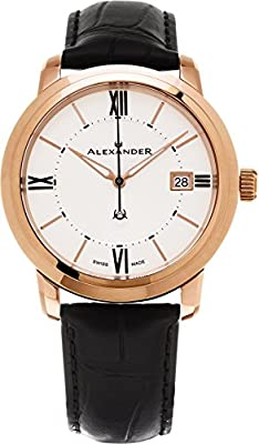 Alexander-Heroic-Macedon-Wrist-Watch-For-Women---Silver-White-Dial-Date-Analog-Swiss-Watch---Stainless-Steel-Plated-Rose-Gold-Watch---Womens-Designer-Watch-A111-06