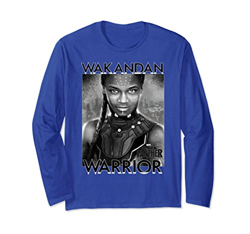 Close Up Panther Black (Unisex Marvel Black Panther Avengers Shuri Close-Up Long Sleeve Tee 2XL Royal Blue)
