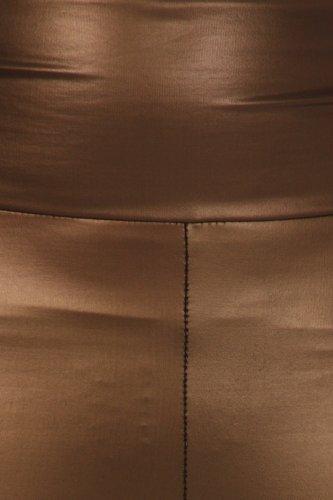 be8dd6b4f6cac5 Sakkas 1436 Matte Liquid High Waist Stretch Leggings - Made in USA - Brown  - S