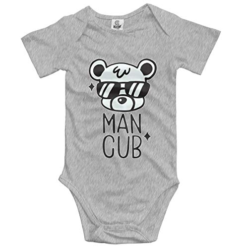 Baby Bear Man Cub Popular Newborn Baby Boys Girls Soft Short-Sleeve Bodysuit Romper Outfits