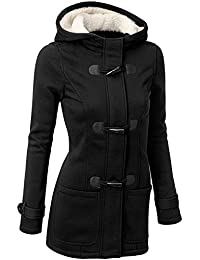 Women's Classic Winter Hooded Trench Jacket Warm Cotton Coat