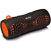 EMB ES900BT Water Resistant Super Loud Portable Bluetooth Speaker - Black On Orange